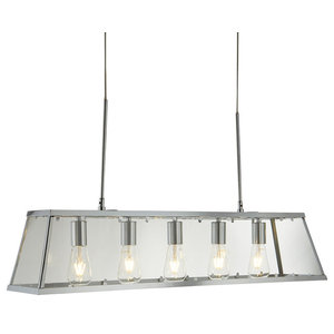 Searchlight Voyager 5-Light Ceiling Light, Polished Chrome