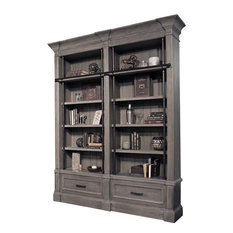 Parker House Gramercy Park 2-Piece Museum Bookcase In Smoke