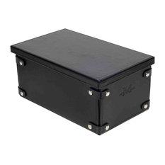 """Foldable Box Winston, Black, 13""""x7.5""""x5.9"""""""