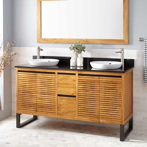 cabinets teak vanities oak bathrooms city wall cabinet contemporary kansas bathroom beautiful