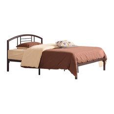 Queen Size Metal Bed, Bronze