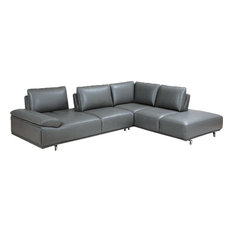 Roxanne Right Hand Facing Sectional Dark Gray