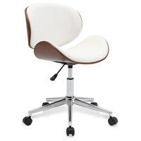 Modern Adjustable Swivel Desk Chair, White
