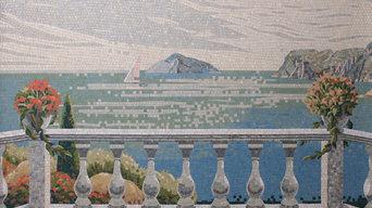 Мозаичное панно Терасса в частный дом
