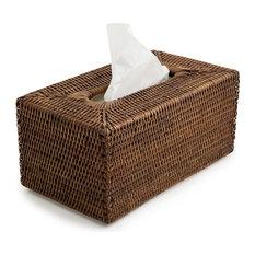Rattan Tissue Box Rectangular