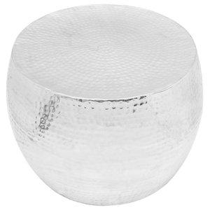 VidaXL Aluminium Round Coffee Table, Silver