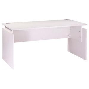 Adjustable Height Office Desk, White