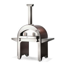 """4 Pizze 31"""" Wood Fired Pizza Oven on Base, Copper"""