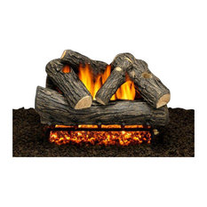 """24"""" Wakefield Oak Logs, Double Burner and Variable Flame Remote, Natural Gas"""