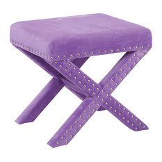 osp accents osp accents katie bench purple vanity stools and benches
