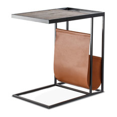 Madeleine Home   Avignon Sofa Table With Leather Pouch   Console Tables