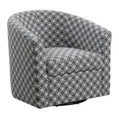 Accent Chair in Gray Circular Fabric