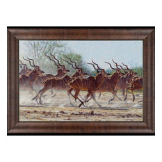 """Bachelor Herd"" John Banovich Limited Edition Giclee, 27""x39"" Artisan Framed"