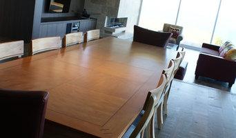Rectangular Parquet inlaid dining table 2.7 x 1 metre