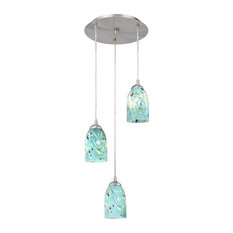 turquoise pendant lighting small drum pendant destination lighting 58309 gl1021d 3light pendant light ocean turquoise blue 50 most popular lights for 2018 houzz