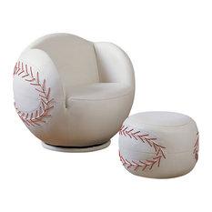 All-Star 2-Piece Baseball Chair and Ottoman Set
