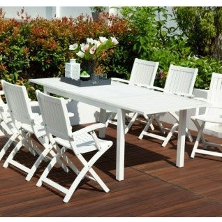 robert dyas fsc richfield white garden furniture set outdoor dining sets