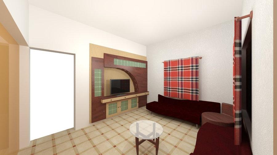 Drawing room 3D Render Design View 1