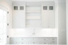 Help Matte Of Glossy White Subway Tile Kitchen Backsplash