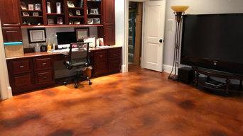 Basement acrylistain floor