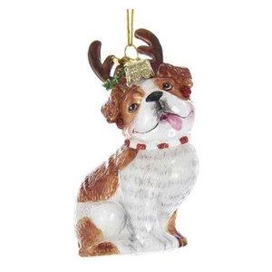 """Kurt Adler 4"""" Noble Gems Glass Bulldog Ornament"""