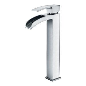 ANZZI Key Series 1-Handle Vessel Bathroom Faucet, Polished Chrome