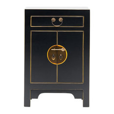 Qing Black and Gilt Cabinet, Small