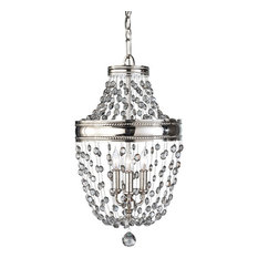 Feiss 3 Light Mini Chandelier, Polished Nickel