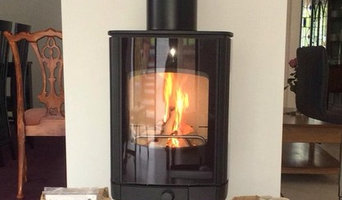 Wood burning stove in open plan-extension