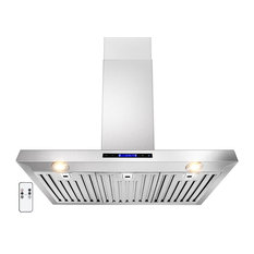 "AKDY AG-ZZ01 Euro Stainless Steel Wall Mount Range Hood, 36"", Duct/Pipe"