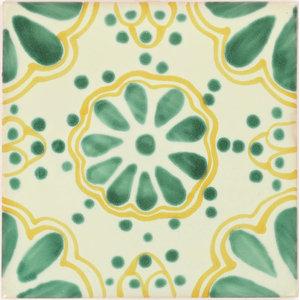 8 x 8 Rikki Knight Mint Green Bubbles Design Ceramic Art Tile