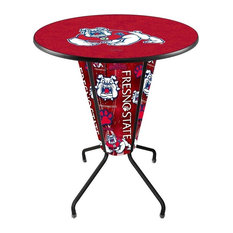 Lighted Fresno State Pub Table by Holland Bar Stool Company