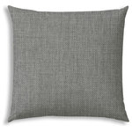 """Joita - REMI Grey Indoor/Outdoor Pillow - Do you LOVE hanging out outside? Making your outdoor space comfortable AND beautiful? Well, so do we! There's not a more budget friendly way to make your outdoor area look fresh and inviting then adding an outdoor pillow, placemat, or even 2 or 3! REMI (grey) has a wonderful, rustic feel for an outdoor pillow. The texture in the photos is real - not printed on as is most outdoor pillows. Made as a solution dyed fabric in a beautiful multi-grey color. Choose from lumbar (14"""" x 20""""), chair size (18"""" x 18""""), sofa size (20"""" x 20"""") or back cushion size (23.5"""" x 26"""") - perfect when you want an inexpensive way to replace your back cushions with a little pop! Whichever you choose, it will be resistant to mildew, water, stains, and fading. And don't worry about cleaning - just brush off the loose dirt or gently hose them down."""