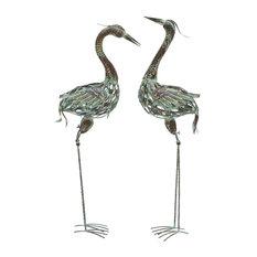 Metal Crane, 2-Piece Set