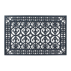 "Rubber Paisley 24""x36"" Beautifully Hand Finished Elegant Large Double Doormat"