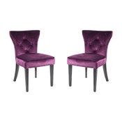 Elise Side Chair, Purple Velvet, Set Of 2