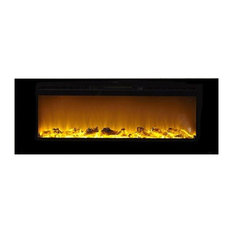 "Sideline 60"" Wide Wall Mounted Electric Fireplace, Black"