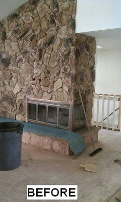 Help me with my giant stone fireplace