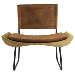 Organic Upholstered Armchair, Brown