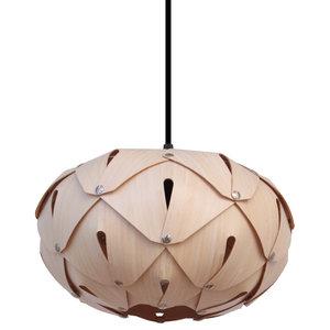 Cynara Wood Lampshade, Bamboo, Medium, Closed