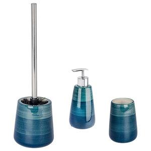 Pottery 3-Piece Bathroom Accessories Set, Petrol