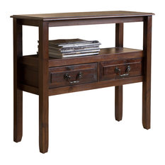 Noah Wood Accent Table, Brown Mahogany