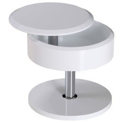 Best Modern Side Tables And End Tables Tokyo Storage Side Table With Swivel Top