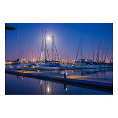 "Channel Islands Harbor Eve, Canvas Giclee, 24""x16"""