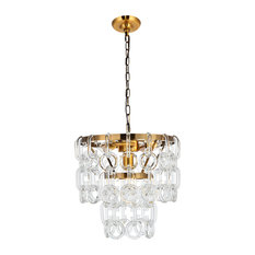 Light Antique Brass Finish 3-Light Pendant