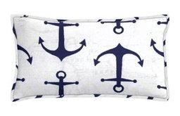 Anchors Navy Lumbar Pillow Set