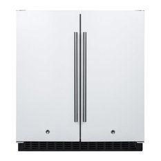 Summit Appliance - Built-In Side by Side Frost-Free Refrigerator, Freezer FFRF3075W - Refrigerators