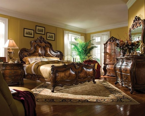 aico furniture living room set.  Michael Amini Bedroom Set in Rococo Cognac Palais Royale Collection Furniture AICO Sets