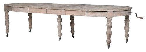 コロニアルリクレイムドパイン・オーバルダイニングテーブル - ダイニングテーブル