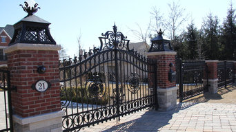 Gate and fence forged for Toronto private residence.